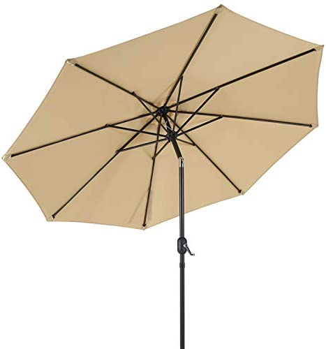 AECOJOY 9FT Patio Umbrella Outdoor Easy Tilt