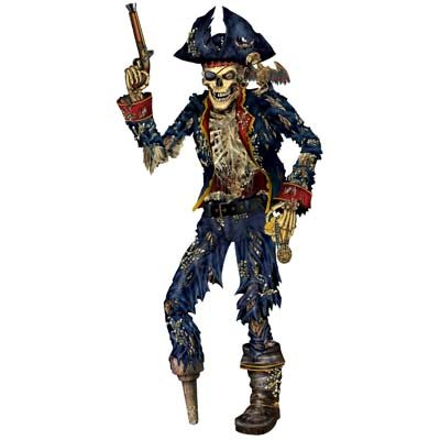 Jointed Pirate Skeleton Party Accessory (1 count) (1/Pkg) ()