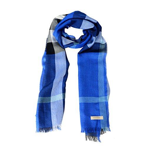 - Burberry Unisex Silk Cashmere Plaid Multi-Color Lightweight Scarf