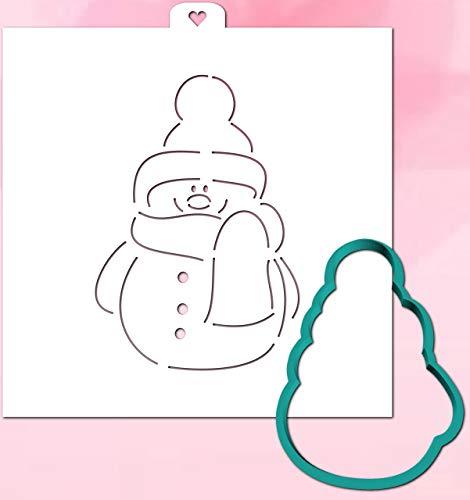 Cookie Cutter with Stencil set SNOWMAN FASHION