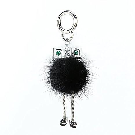 Amazon.com: Papago Fox - Llavero con diseño de pompón de ...