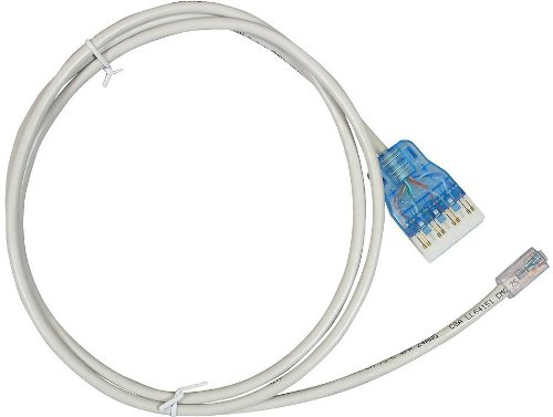 Allen Tel Products GB110PC645-05 110 To RJ45 Configuration, 5-Foot Length Category 6 Patch Cord And Plug Assembly - Category 5 Patch Cord
