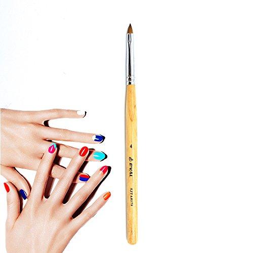 Mitini Pure Kolinsky Sable Hair Nail Brushes Acrylic Nail Brush Professional Nail Art Wood -