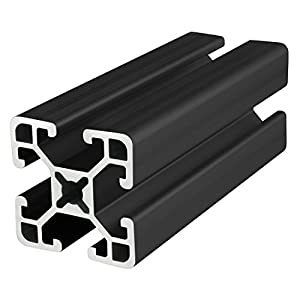 "80/20 Inc., 1515-ULS, 15 Series, 1.5"" x 1.5"" Ultra Light Smooth T-Slotted Extrusion x 48"" Black by 80/20 Inc."