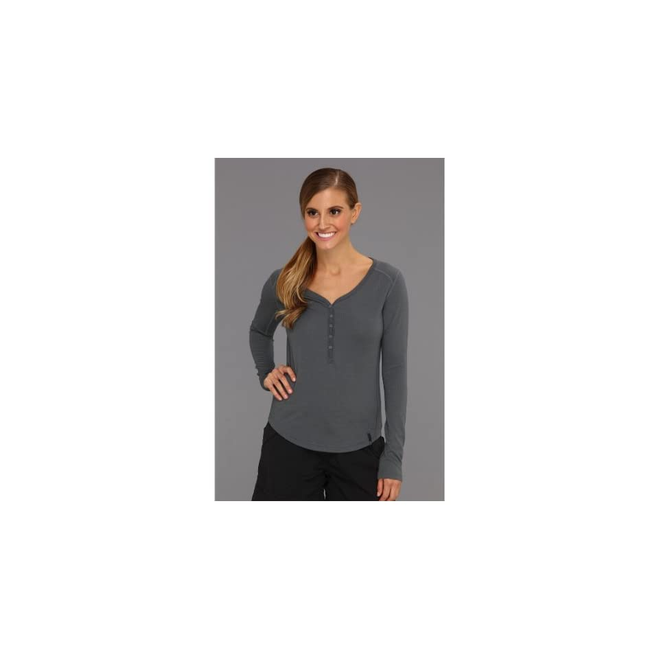 Mountain Hardwear Trekkin Thermal L/S Henley Shirt, Graphite, Medium