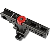 CAMVATE Aluminum Top Handle Grip for Camera Cage with two Shoe Mount(Black)
