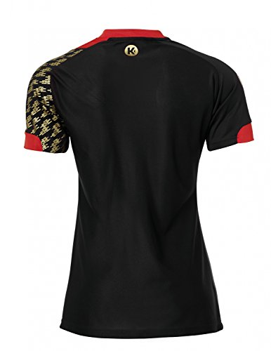 Kempa DHB Shirt Damen - schwarz/rot, Größe:XL