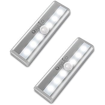OxyLED Motion Sensor Cabinet Lights, Mini Closet Light, Stick-on Wireless 6  LED