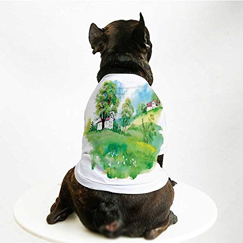 YOLIYANA Pastoral Fashion Pet Suit,Pastoral Countryside View with