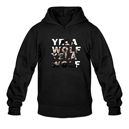 TMILLER Men's YelaWolf Art Logo Hoodied Sweatshirt