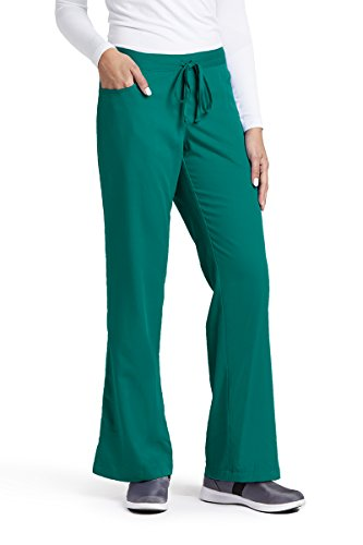 Grey's Anatomy Women's Junior-Fit Five-Pocket Drawstring Scrub Pant - Small - Hunter (Pocket Drawstring Pant)