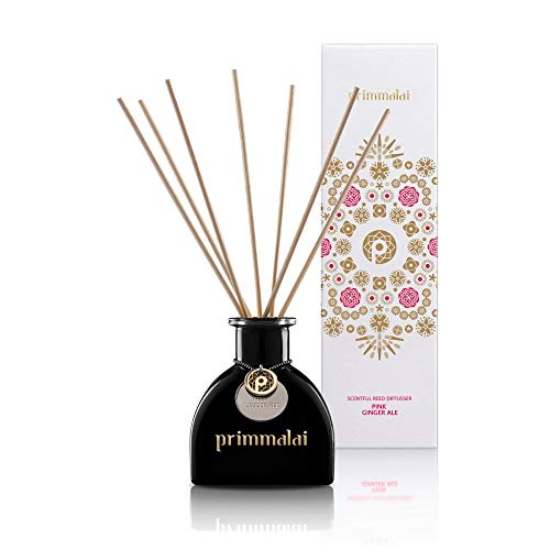 Primmalai – Premium Essential Oil Reed Diffuser - Long Lasting - Available in 13 Luxurious Thai Scents - 100 ml (Pink Ginger ()