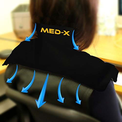 Neck Pain Cold Ice Pack Reusable Gel Shoulder Compress Wrap Therapy For Frozen Shoulder   Bursitis   Polymyalgia Rheumatica   Cervical Radiculopathy   Brachial Plexus Injury By Med X