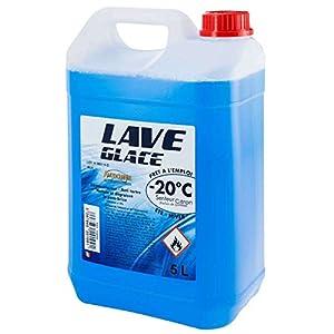 Provence Outillage 6524 PERALINE 6524-Lave Glace-Bidon de 5 litres-Spécial hiver-20°c-Dégraisse et élimine Insectes et…