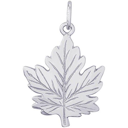 Silver Leaf Charm - 5