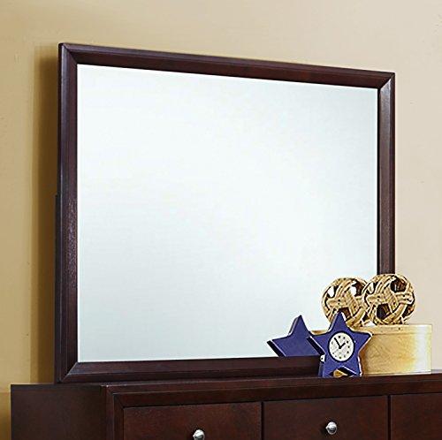 Coaster Home Furnishings Serenity Rectangular Dresser Mirror, Rich Merlot