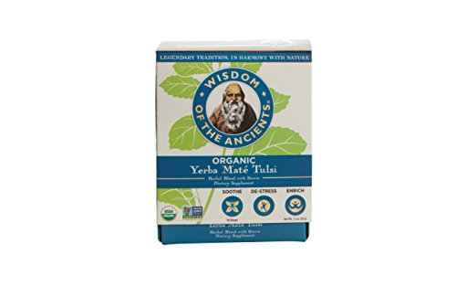 Wisdom of the Ancients Organic Yerba Maté Tea Bags, Tulsi, 1.1 oz ()