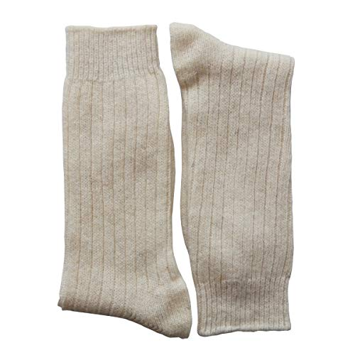 YUN Men's Natural Pure 100% Wool Warm Boot Winter Socks Traditional Cream (3-Pairs) ()