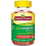 Nature Made Vitamin D3 125 mcg (5000 IU) Gummies, 80 Count for Bone Health†
