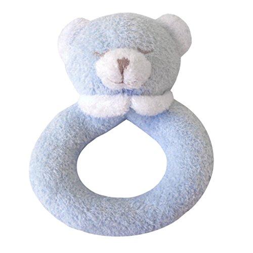 Angel Dear Bear Ring Rattle, New Blue