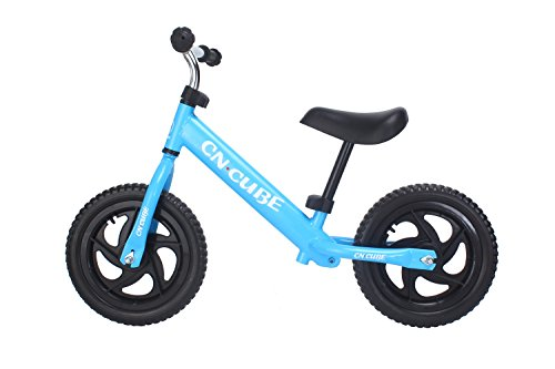 YBL Children's baby two rounds movement Balance Bike for No pedal bicycle Suitable for 2-6 years old Boys girls Carbon Steel Frame Adjustable Handlebar and Seat (blue) - Pedal Car People