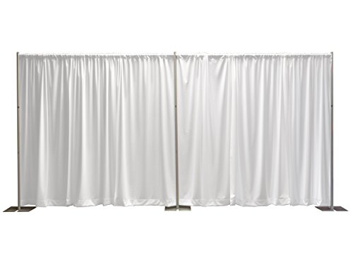 OnlineEEI, Premier Pipe and Drape Backdrop or Room Divider Kit, 8ft x 20ft, White