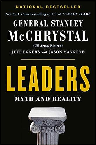 8f12b78dcd Leaders  Myth and Reality  Stanley McChrystal