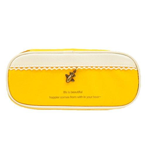 Moolecole Large Capacity Encantador Caja De Lápices Para Estudiantes morado amarillo