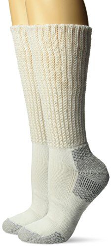 Dr. Scholl's Women's Plus Advanced Relief Diabetic & Ciculatory Crew Socks (2 Pack), White, Shoe Size: 8-12