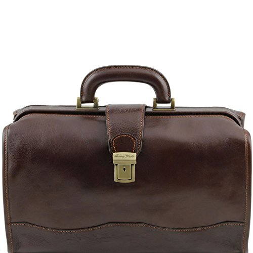 Tuscany Leather Raffaello - Bolso de doctor en piel Miel Bolsos de médico Marrón oscuro