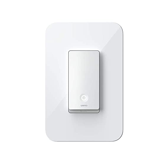 Smart Light Switch >> Amazon Com Wemo Wi Fi Light Switch 3 Way Control Lighting From