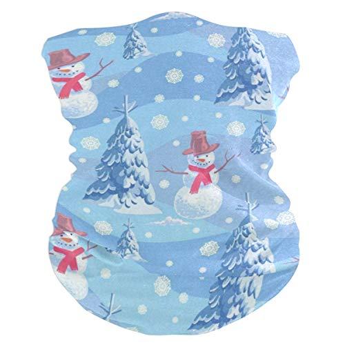 (Lovexue Funny Snowmen Christmas WinterHeadband Womens Bandana Mens Balaclava,Neck Warmer,Face Mask,Tube Hatliner)