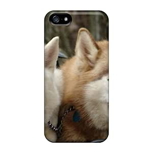 High Grade LastMemory Flexible Tpu Case For Iphone 5/5s - Huskies Animals