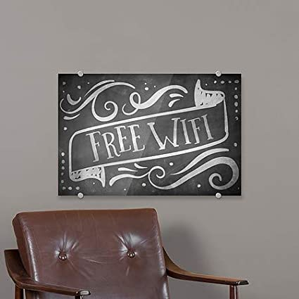 18x12 CGSignLab Free WiFi Chalk Banner Premium Acrylic Sign 5-Pack