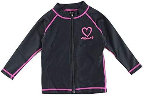 ビラボン ラッシュガード 子供 長袖 人気ブランド ジップアップ UV 水着 プリント ロゴ 黒 BLK 海 90 BILLABONG AE015-802