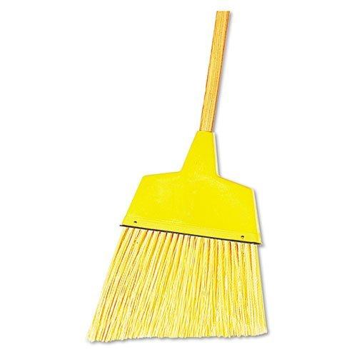 Boardwalk 932AEA Angler Broom Plastic Bristles 42'' Wood Handle Yellow by Boardwalk