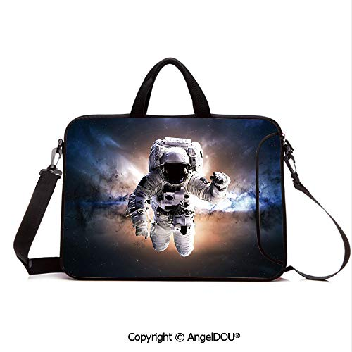 - AngelDOU Waterproof Laptop Sleeve Bag Neoprene Carrying Case with Handle & Strap Floating Astronaut in Space Nebula Heavenly Bodies Star Systems Love Science for Women &Men Work Home Office Multicol