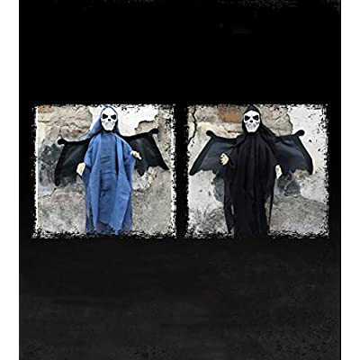 Quenny Halloween Horror Electric Flying Hanging Ghost, Haunted House Horror Layout Props. 2 Pieces. (2 Pieces): Toys & Games