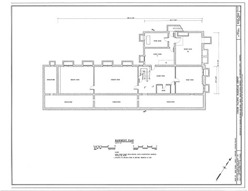 (Historic Pictoric Blueprint Diagram HABS Cal,36-Kelso,1- (Sheet 3 of 10) - Union Pacific Railroad Depot, Intersection of Kelbaker & Kelso CIMA Roads, Kelso, San Bernardino County, CA 14in x 11in)