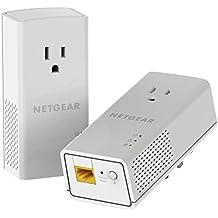 NETGEAR PowerLINE 1000 Mbps, 1 Gigabit Port with Pass-Through, Extra Outlet (PLP1000-100PAS)