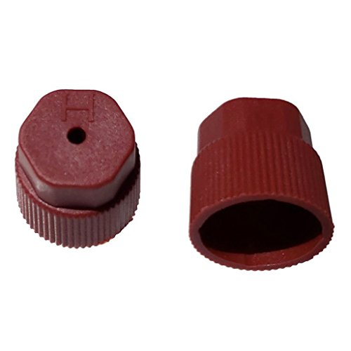 Buy Auto Supply # BAS03037 (50 Count) M8x1.0 Thread Red High Side A/C Service Cap Charge Port Valve for Air Conditioning Systems Aftermarket Replacement For MT0069, 59988