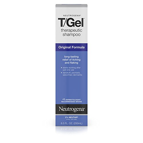 Neutrogena T/Gel Therapeutic Shampoo Original Formula, Anti-Dandruff Treatment for Long-Lasting Relief of Itching and Flaking Scalp as a Result of Psoriasis & Seborrheic Dermatitis, 8.5 fl oz (2 -