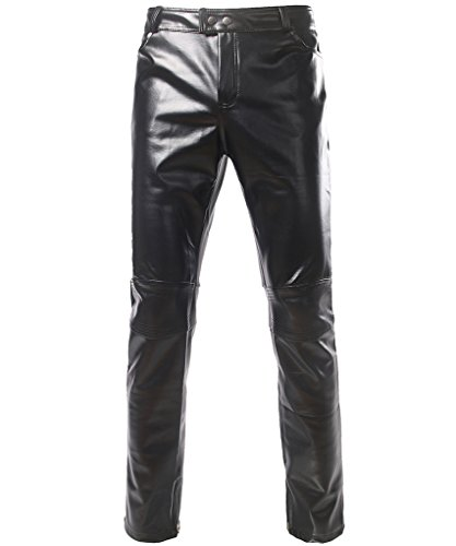 Style Leather Collection - CIC Collection Men's Nightclub Styles Leather Look Metallic Pants