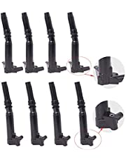HOZIBI 8Pcs Ignition Coil Packs Compatible with 2010-2017 Ford F150 F250 F350 Super Duty 6.2L V8 UF-631 UF-639 AL3Z-12029-B AL3Z-12029-A (4 Right and 4 Left)