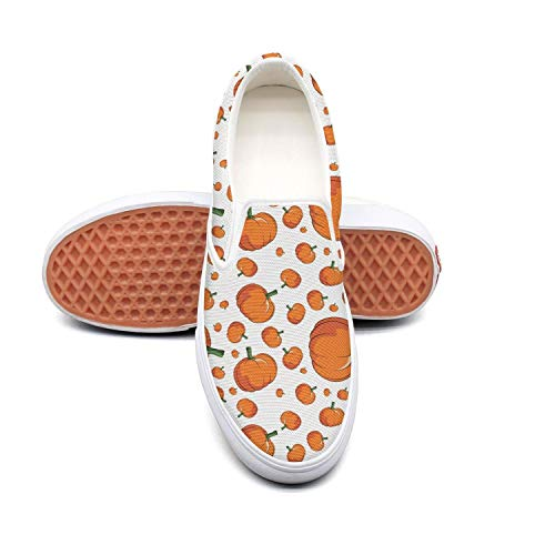 Cartoon pumpkin drawing Classic Men's Canvas Slip-Ons Loafer Shoes -