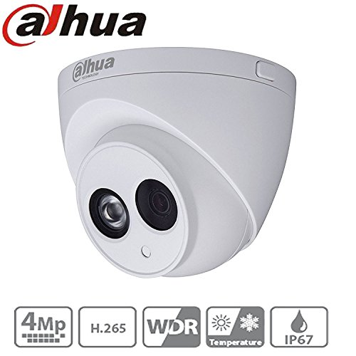 Dahua Cctv IP Camera IPC-HDW4433C-A 2.8Mm 4MP Dome Camera IR Night Version 50M IP67 Onvif H.265 Security Camera International Version by TEAKER