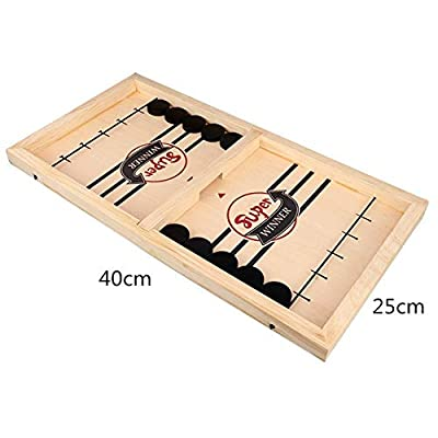 URMAGIC Fast Slingshot Table Hockey Party Game,Table Desktop Battle 2 in 1 Ice Hockey Game,Fast Sling Puck Game,Bouncing Chess Hockey Game,Winner Board Games Toys for Parent-Child: Toys & Games