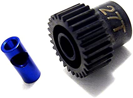 Hot Racing 27t Steel 48p Pinion Gear 5mm or 1//8 NSG827