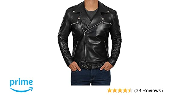 Motorcycle Street Gear Mens Black Quality 4 Pocket Leather Motorcycle Biker Classic Waistcoat 600-002 Year-End Bargain Sale