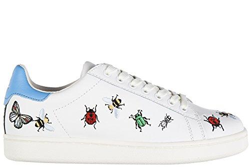 MOA Master of Arts Zapatos Zapatillas de Deporte Mujer EN Piel Nuevo Insect Blan